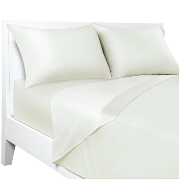 Sealy® 100% Cotton Temperature Balancing Sheet Set  - Ivory - Queen