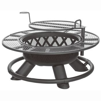 "Shinerich Ranch 47"" Fire Pit with Grill"