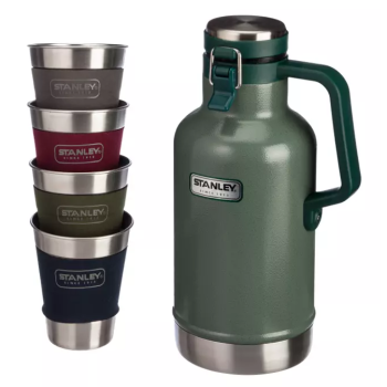Stanley Growler Gift Set - Hammertone Green