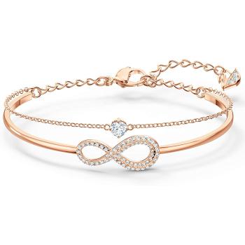 Swarovski Infinity Bangle - Rose Gold - Medium