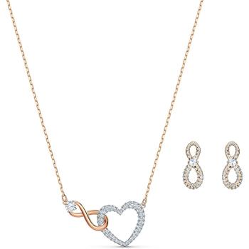 Swarovski Infinity Heart Set