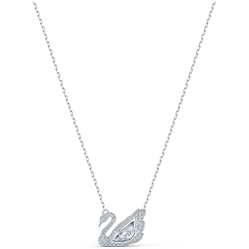Swarovski Dancing Swan Necklace - White