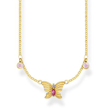 Thomas Sabo Butterfly Necklace - Gold