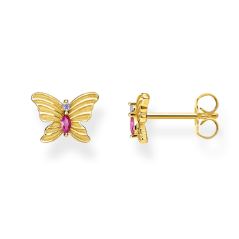 Thomas Sabo Butterfly Ear Studs - Gold