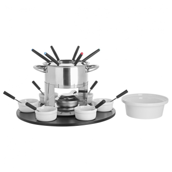 Trudeau® Laila 3-In-1 Fondue Set with Rotating Tray