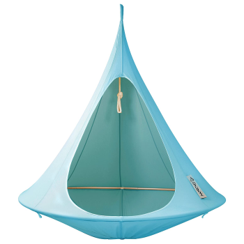 Vivere Cacoon Double Hanging Hammock Chair - Turquoise