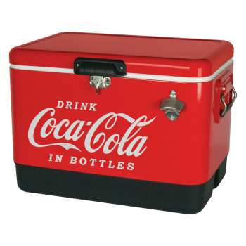 Koolatron Classic Coca-Cola Stainless Steel 54-Quart Ice Chest Cooler