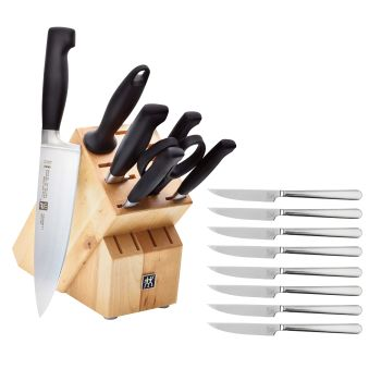 Zwilling® Four Star 8-Piece Knife Block Set With Bonus 8-Piece Steak Knife Set