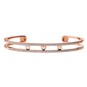 Michael Kors Custom Kors Rose Gold Cubic Zirconia Nesting Bangle