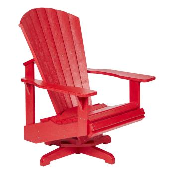 C.R. Plastic C02 Swivel Adirondack - Red