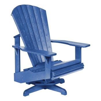 C.R. Plastic C02 Swivel Adirondack - Blue