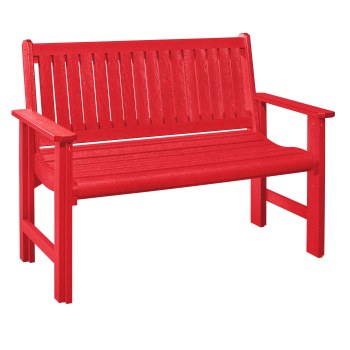 C.R. Plastic  B01 4' Garden Bench - Red