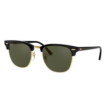 Ray-Ban Clubmaster Classic Sunglasses - Ebony-Arista/Green Classic G-15