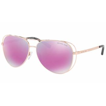 Michael Kors MK-1024 Lai Sunglasses - Rose Gold-Tone Frames with Fuschial Mirror Lens