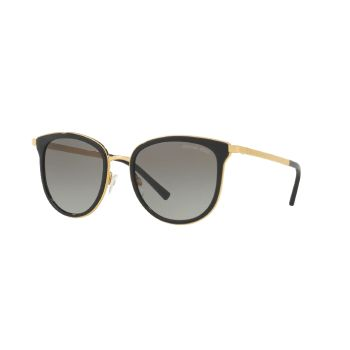 Michael Kors MK-1010 Adrianna Sunglasses - Black/Gold Frames with Grey Gradient Lens