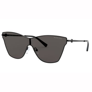 Michael Kors MK-1063 Larissa Sunglasses - Shiny Black Frames with Dark Grey Lens