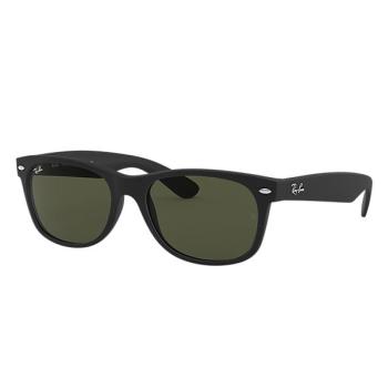 Ray-Ban New Wayfarer Classic Sunglasses - Black/Green Classic G15