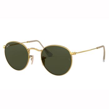 Ray-Ban Round Flat Lenses Sunglasses - Gold/Green Classic G-15