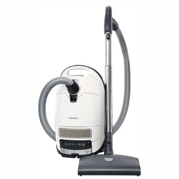 Miele Complete C3 Excellence Canister Vacuum - Lotus White