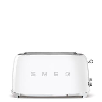 SMEG 50's Retro Style Aesthetic 4-Slice Toaster - White