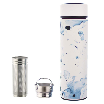 Grosche® Chicago Tea and Water Infuser Bottle - White Marble
