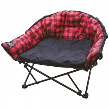 Kuma Lazy Bear Dog Bed - Red Plaid