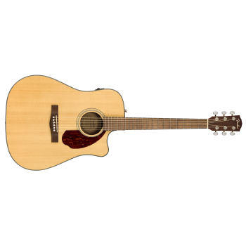 Fender CD-140SCE Acoustic-Electric Guitar with Case – Natural Finish