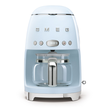 SMEG 50's Retro Style Aesthetic Drip Coffee Machine - Pastel Blue