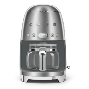 SMEG 50's Retro Style Aesthetic Drip Coffee Machine - Brushed Stainless Steel