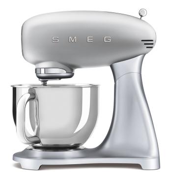 SMEG 50's Retro Style Aesthetic Stand Mixer - Silver