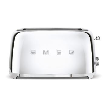 SMEG 50's Retro Style Aesthetic 4-Slice Toaster - Chrome