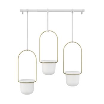 Umbra® Triflora Hanging Planter - White/Brass