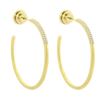 Dean Davidson Signature Pave Hoops - Gold