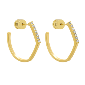 Dean Davidson Small Spire Hoops - White Topaz/Gold
