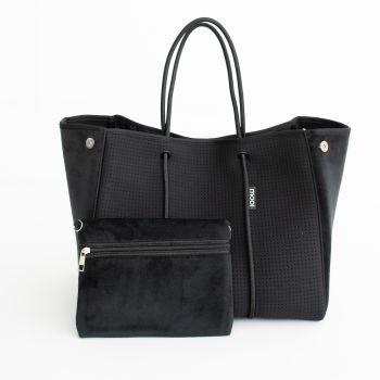 Bag & Bougie Velvet Vogue Tote - Black