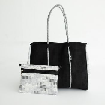 Bag & Bougie Tote - Black Camo