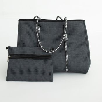 Bag & Bougie Tote - Moon Grey