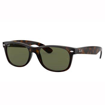 Ray-Ban New Wayfarer Classic Sunglasses - Matte Tortoise/Crystal Green