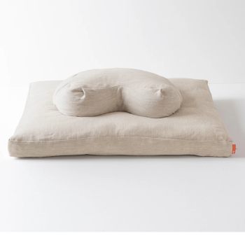 Halfmoon Yoga Halfmoon Meditation Cushion + Zabuton - Natural Linen