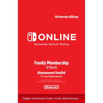 Nintendo Switch Online 12-Month Family Membership [Digital Code]