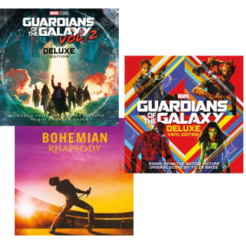The Soundtrack Smashes Vinyl Collection - Guardians Of The Galaxy V1 (2LP), Guardians Of The Galaxy V2 (LP) & Bohemian Rhapsody (2LP)