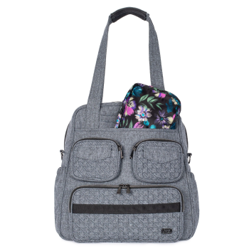 LUG® Puddle Jumper Tote & Packable Set - Heather Grey