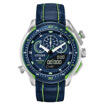 Citizen Men's Promaster STT Eco-Drive Blue Stainless Steel Watch