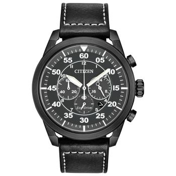 Citizen Men's Avion Eco-Drive Black Vintage Watch