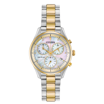 Citizen Chandler Ladies Chrono Eco-Drive White Dial Watch