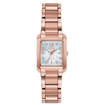 Citizen L Bianca Ladies Crystal Rose Gold-Tone Watch