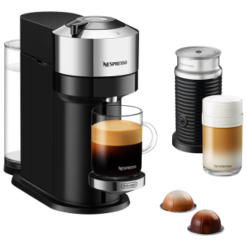 Nespresso Vertuo Next Coffee and Espresso Machine with Aeroccino - Chrome