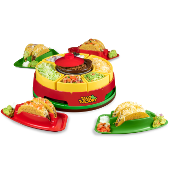 Nostalgia™ Taco Tuesday Heated Lazy Susan Taco Bar