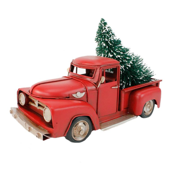 Koppers Home Red Country Christmas Truck