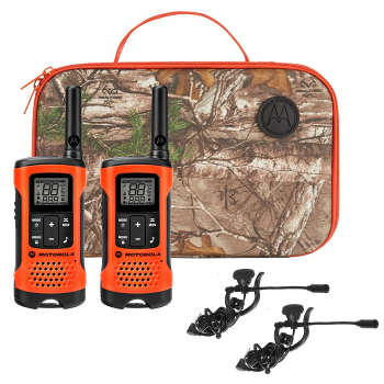Motorola Talkabout T265 Rechargeable Two-Way Radio Sportsman Edition Bundle - Orange